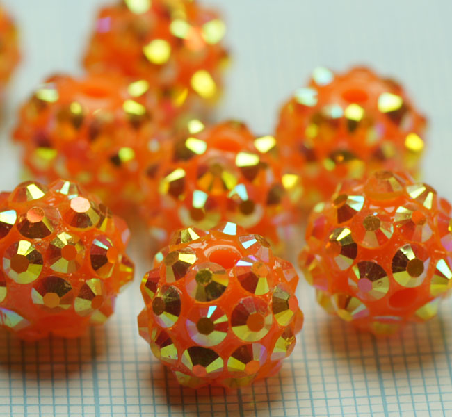 Code: 12MMC3    --- Resine 12mm. Orange-Or---
