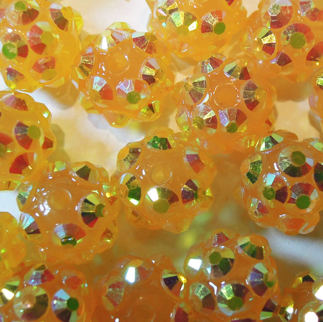 Code: B81206O    --- Perle Resine 12mm. Jaune orange---