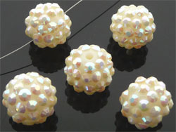 Code: D08550    --- Perle synth. Shamballa 16mm Ivoire---