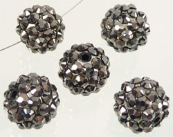 Code: D08555    --- Perle synth. Shamballa 16mm Anthracite---