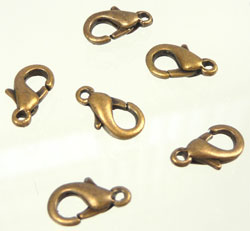 Code: D04538    --- Mousqueton 10X6mm. Or vieux, Bronze---
