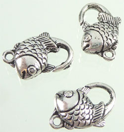 Code: D08450    --- Fermoir metal poisson 20x12mm.---
